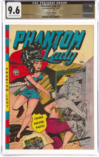 Phantom Lady #21 The Promise Collection Pedigree (Fox Features Syndicate, 1948) CGC NM+ 9.6 Off-white to white pages