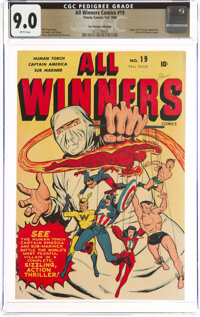 All Winners Comics #19 The Promise Collection Pedigree (Timely, 1946) CGC VF/NM 9.0 White pages