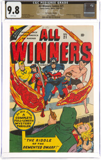 All Winners Comics #21 The Promise Collection Pedigree (Timely, 1947) CGC NM/MT 9.8 White pages
