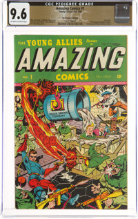 Amazing Comics #1 The Promise Collection Pedigree (Timely, 1944) CGC NM+ 9.6 Off-white to white pages