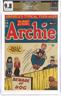 Archie Comics #14 The Promise Collection Pedigree (MLJ, 1945) CGC NM/MT 9.8 Off-white to white pages
