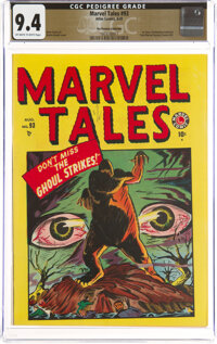 Marvel Tales #93 The Promise Collection Pedigree (Atlas, 1949) CGC NM 9.4 Off-white to white pages