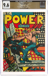 Power Comics #1 The Promise Collection Pedigree (Narrative, 1944) CGC NM+ 9.6 Off-white to white pages