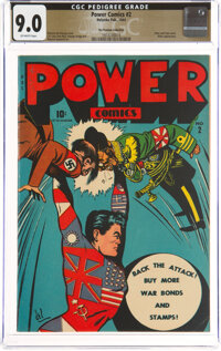 Power Comics #2 The Promise Collection Pedigree (Narrative, 1944) CGC VF/NM 9.0 Off-white pages