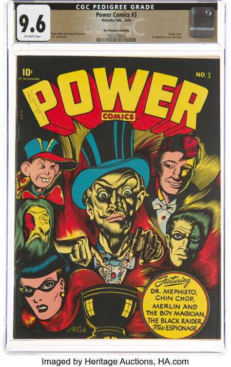 Power Comics #3 The Promise Collection Pedigree (Narrative, 1944) CGC NM+ 9.6 Off-white pages....