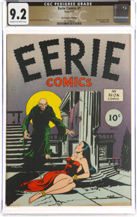 Eerie #1 The Promise Collection Pedigree (Avon, 1947) CGC NM- 9.2 Cream to off-white pages