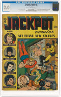 Golden Age (1938-1955):Superhero, Jackpot Comics #4 (MLJ, 1941) CGC GD 2.0 Cream to off-white pages....