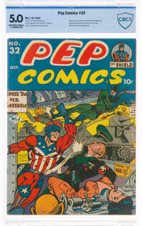 Pep Comics #32 (MLJ, 1942) CBCS VG/FN 5.0 Off-white to white pages