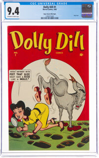 Dolly Dill #1 Mile High Pedigree (Marvel, 1945) CGC NM 9.4 Off-white to white pages