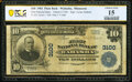 National Bank Notes:Minnesota, Wabasha, MN - $10 1902 Plain Back Fr. 624 The First National Bank Ch. # 3100 PCGS Banknote Choice Fine 15.. ...