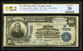 National Bank Notes:Illinois, Triumph, IL - $10 1902 Plain Back Fr. 624 The First National Bank Ch. # 7660 PCGS Banknote Very Fine 20.. ...
