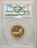 1995-W $5 Olympic/Stadium Gold Five Dollar PR70 Deep Cameo PCGS. 1 of 500. PCGS Population: (32). NGC Census: (0)....(PC...
