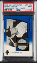 Baseball Cards:Singles (1970-Now), 2003 UD Authentics Mickey Mantle Threads of Time (Pants) #...