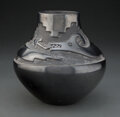 American Indian Art:Pottery, A San Ildefonso Carved Blackware Jar ...