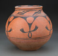 American Indian Art:Pottery, A San Ildefonso Black-On-Red Jar c. cl...