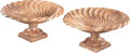 Furniture, A Large Pair of Continental Carved Wave Pattern Marble Garden Tazze. 13-3/4 x 27-3/4 inches (34.9 x 70.5 cm) (each). Pro... (Total: 2 Items)