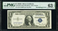 Error Notes:Miscellaneous Errors, Misaligned Back Printing Error Fr. 1613W $1 1935D Wide Sil...