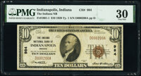 Fancy Serial Number 200 Indianapolis, IN - $10 1929 Ty. 1 The Indiana National Bank Ch. # 984 PMG Very Fine 30