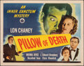 """Movie Posters:Horror, Pillow of Death (Universal, 1945). Folded, Fine/Very Fine. Half Sheet (22"""" X 28""""). Horror.. ..."""