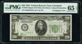 Small Size:Federal Reserve Notes, Changeover Pair Fr. 2054-D/Fr. 2055-D $20 1934 Dark Green Seal Mule/1934A Federal Reserve Notes. PMG Gem Uncirculated 65 EPQ.... (Total: 2 notes)
