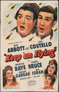 """Movie Posters:Comedy, Keep 'Em Flying (Universal, 1941). Folded, Fine. One Sheet (26.5"""" X 40.75""""). Comedy.. ..."""