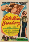 """Movie Posters:Musical, Little Miss Broadway (Columbia, 1947). Folded, Fine+. One Sheet (27"""" X 41""""). Musical.. ..."""