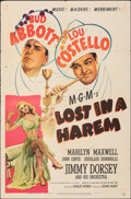 """Movie Posters:Comedy, Lost in a Harem (MGM, 1944). Folded, Fine+. One Sheet (27"""" X 41""""). Comedy.. ..."""
