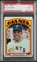 Baseball Cards:Singles (1970-Now), 1972 Topps Willie Mays #49 PSA NM 7....