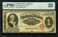 Large Size:Silver Certificates, Fr. 216 $1 1886 Silver Certificate PMG Very Fine 25.. ...