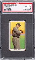 Baseball Cards:Singles (Pre-1930), 1909-11 T206 Sovereign 150 Ed Killian (Pitching) PSA VG-EX 4 - Pop One, Two Higher for Brand/Series. ...
