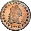 Early Dollars, 1795 $1 Flowing Hair, Two Leaves, B-1, BB-21, R.2, MS65 PCGS....