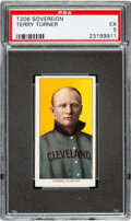 Baseball Cards:Singles (Pre-1930), 1909-11 T206 Sovereign 150 Terry Turner PSA EX 5 - Pop One, None Higher for Brand/Series. ...