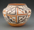 American Indian Art:Pottery, An Acoma Polychrome Jar c. clay, paint