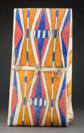 American Indian Art:Pipes, Tools, and Weapons, A Plains Painted Parfleche Envelope...