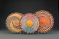 American Indian Art:Baskets, Three Hopi Polychrome Twined Plaques ... (Total: 3 )