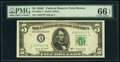 Small Size:Federal Reserve Notes, Fr. 1964-A; E $5 1950C Federal Reserve Notes. PMG Gem Uncirculated 66 EPQ.. ... (Total: 2 notes)
