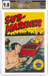 Sub-Mariner Comics #21 The Promise Collection Pedigree (Timely, 1946) CGC NM/MT 9.8 Off-white to white pages