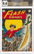 Golden Age (1938-1955):Superhero, Flash Comics #103 The Promise Collection Pedigree (DC, 1949) CGC NM 9.4 Off-white to white pages....