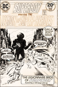 Nick Cardy Superboy and the Legion of Super-Heroes #200 Cover Original Art (DC, 1974)