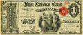 National Bank Notes:Ohio, Barnesville, OH - $1 Original Fr. 380 The First National Bank Ch. # 911 PMG Choice Very Fine 35.. ...