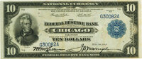 Fr. 813 $10 1915 Federal Reserve Bank Note PMG About Uncirculated 55