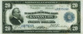 Large Size:Federal Reserve Bank Notes, Fr. 826a $20 1915 Federal Reserve Bank Note PMG Extremely Fine 40.. ...