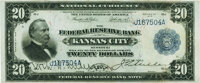 Fr. 826a $20 1915 Federal Reserve Bank Note PMG Extremely Fine 40