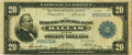 Fr. 830 $20 1915 Federal Reserve Bank Note PMG Very Fine 20
