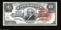 Large Size:Silver Certificates, Fr. 293 $10 1886 Silver Certificate Very Choice New. Just ...