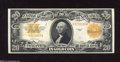 Large Size:Gold Certificates, Fr. 1187 $20 1922 Gold Certificate About Uncirculated. A ...