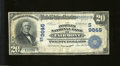 National Bank Notes:West Virginia, Fairmont, WV - $20 1902 Date Back Fr. 645 The Peoples NB