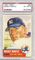 Baseball Cards:Singles (1950-1959), Baseball 1953 TOPPS MICKEY MANTLE #82 EX/MT PSA 6. ...