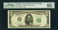 Small Size:Federal Reserve Notes, Fr. 1964-G*; K* $5 1950C Federal Reserve Star Notes. PMG Graded Gem Uncirculated 65 EPQ; Choice Uncirculated 64 EPQ.