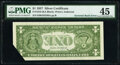 Error Notes:Inverted Reverses, Inverted Back Error Fr. 1619 $1 1957 Silver Certificate. PMG Choice Extremely Fine 45.. ...